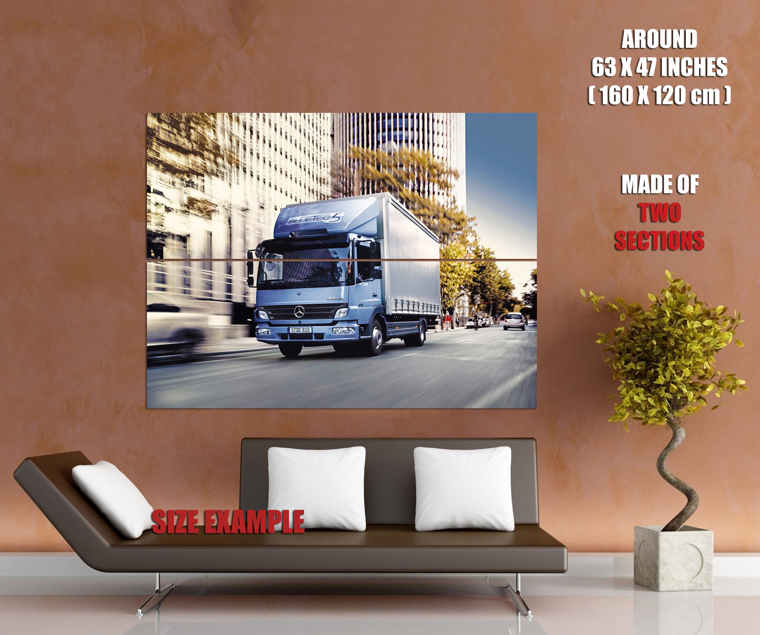 mercedes benz atego bluetec 5 hybrid print poster plakat ebay. Black Bedroom Furniture Sets. Home Design Ideas
