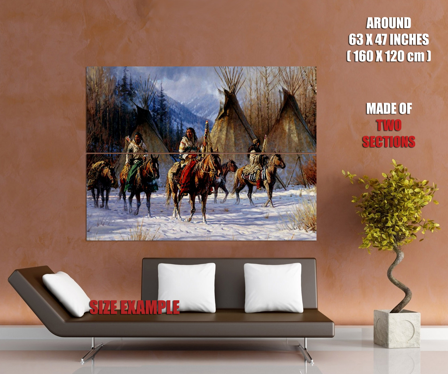 Native american horses wigwams snow art indians gigantic print native american horses wigwams snow art indians gigantic amipublicfo Choice Image