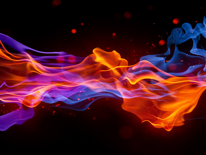 fusion red blue flames abstraction gigantic print poster ebay