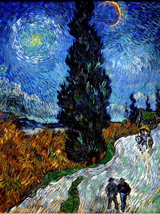 Vincent van Gogh Country Road Provence Night Fine Art Wall Print ...