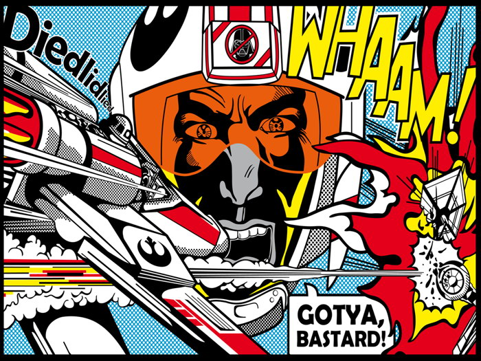 Roy Lichtenstein Star Wars X-wing vs TIE fighter Art Wall Print ...
