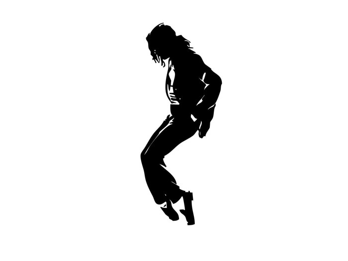 michael jackson silhouette pop music gigantic print poster
